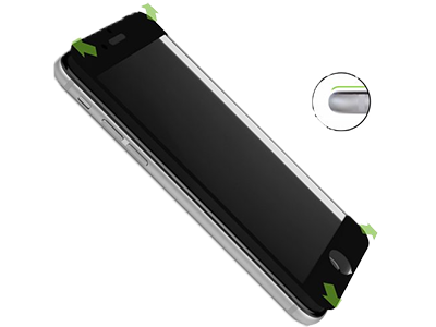 CASEual FGV2IP6-BLK Full Glass V2 iPhone 6/6s, zwart