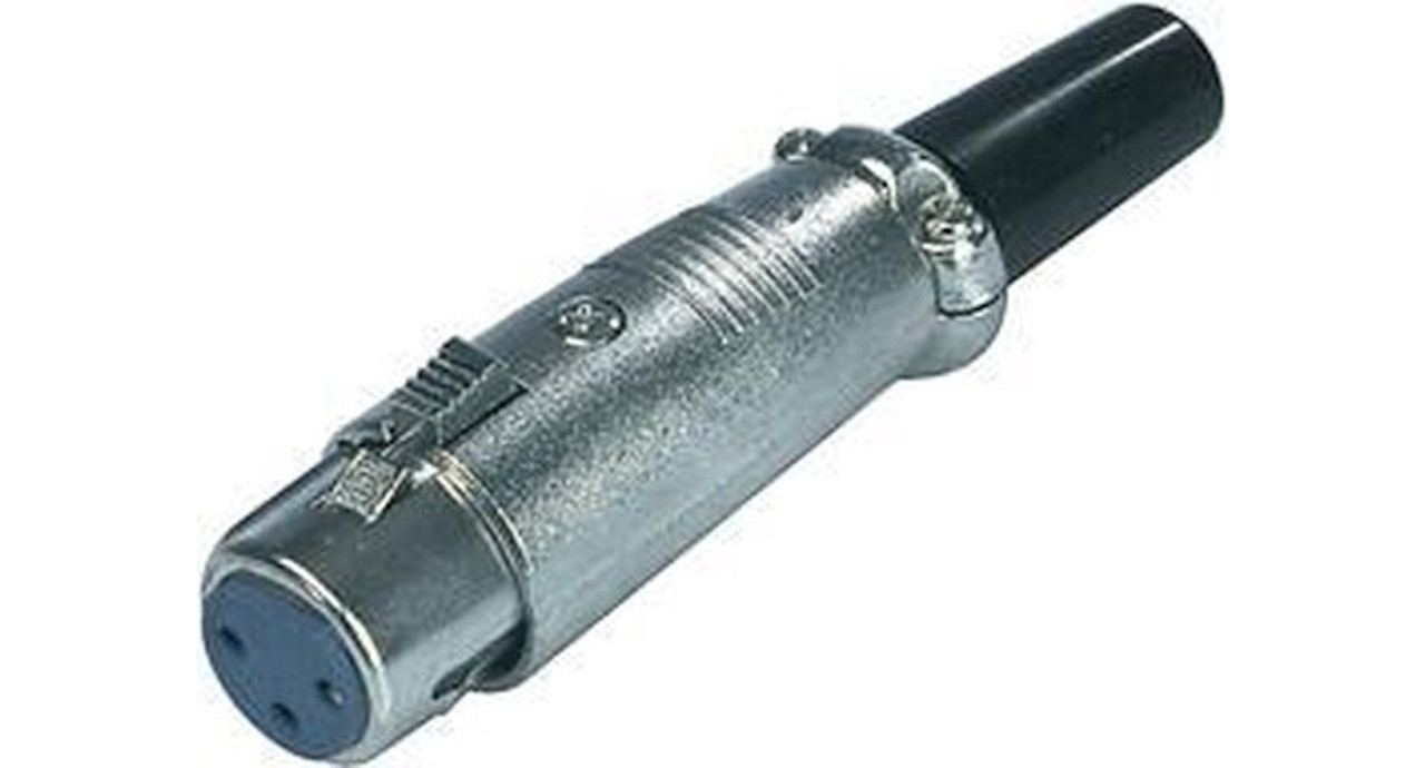 Valueline Connector XLR 3-Pin Female Metaal Zilver