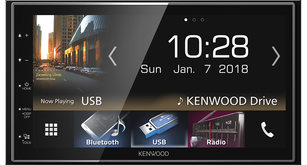 Kenwood DMX7018DABS - 2-DIN MP3-Autoradio met Touchscreen / Bluetooth / DAB / USB / Carplay