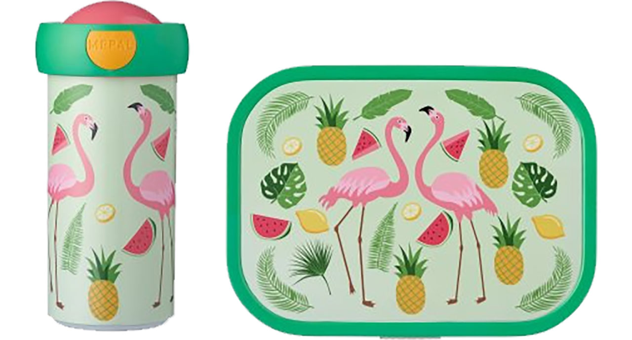 Mepal Lunchset Campus - Tropical Flamingo 107420165374