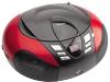 Lenco SCD-37 draagbare AM/FM radio met USB-poort rood