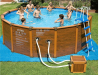 Intex Sequoia Wood-Grain Frame Pool 508x124cm Zwembad