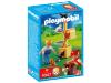 De poezen leven zich al spelende uit op de krabpaal. playmobil krabpaal met poezen speelset, geschikt voor ...