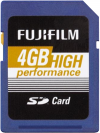 Fujifilm 4GB High Performance SDHC Class 10
