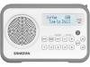 Sangean DPR-67 wit/grijs DAB radio