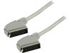 SCART kabel SCART mannelijk SCART mannelijk 1,00 m zilverkleurig