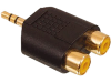 AC 010 GOLD 2x tulp stereo contra stekker